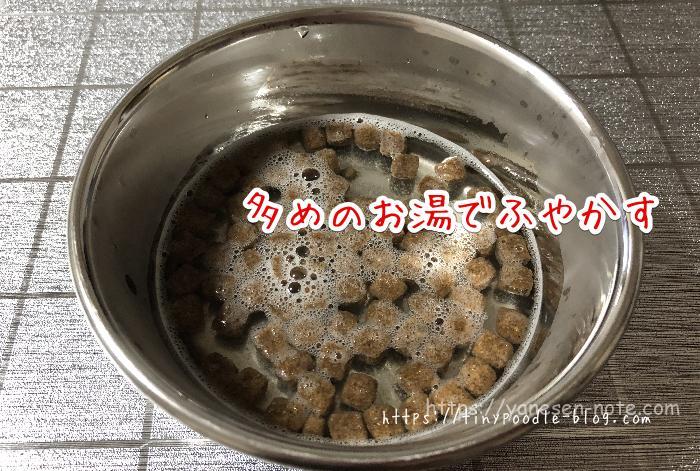 ドッグフード お湯でふやかす